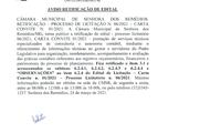 Aviso de Retificação de Edital- Processo Licitatório 006.2021- Carta Convite 001.2021- Contratação de Assessoria e Consultoria Contábil