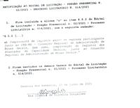 Retificação ao Edital- Licitação 014.2021- Pregão Presencial 002.2021- Contratação de pessoa física ou jurídica para prestação de serviços de faxina, copeiragem e outros serviços correlatos...